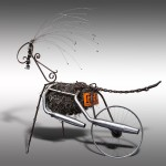 ''Harley Ram''. Steel and stainless steel, found objects.7'x5'x4'