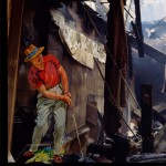 Golfing in a store wrecked by the Rodney King Riots. ©2014 Pascal Giacomini
